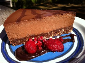 Raw Vegan Chocolate Hazelnut Cream Pie